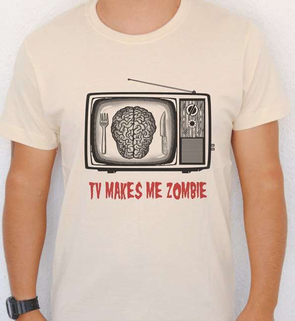 camiseta-TV-MAKE-ME-ZOMBIE